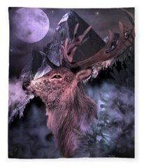 Moonlight Buck Fleece Blanket