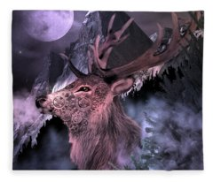 Moonlight Buck Fleece Blanket
