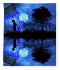 Moonlight Colosseum Fleece Blanket