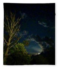 Moonlight In The Trees Fleece Blanket