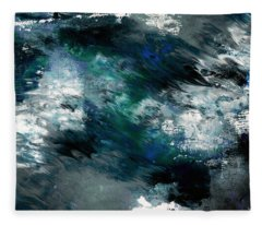 Moonlight Ocean- Abstract Art By Linda Woods Fleece Blanket