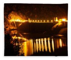 Moonlit Dam Fleece Blanket