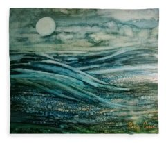 Moonlit Storm Fleece Blanket