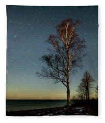 Moonlit Tree Fleece Blanket