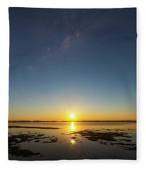 Moonrise Galaxy Fleece Blanket