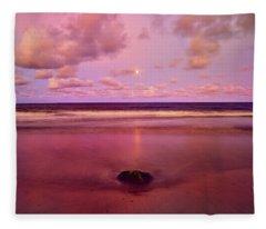 Moonrise, Mayaro Fleece Blanket