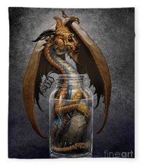 Moonshine Dragon Fleece Blanket