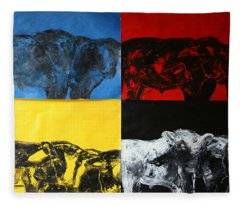 Mooving Out Of Our Land Fleece Blanket