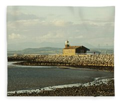 Morecambe. The Stone Jetty. Fleece Blanket