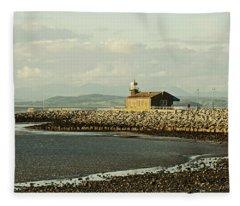 Morecambe. The Stone Jetty. Fleece Blanket