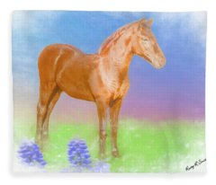 Morgan Foal. Fleece Blanket
