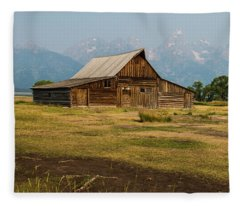 Mormon Barn Fleece Blanket