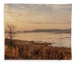 Morning At Boombay Hook Fleece Blanket