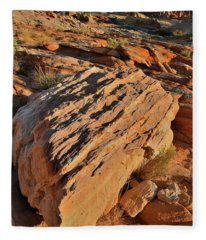 Morning At Valley Of Fire's Wash 4 Fleece Blanket