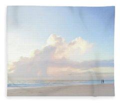 Morning Beach Walk 69x92 Fleece Blanket