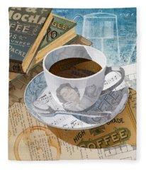Morning Coffee Fleece Blanket