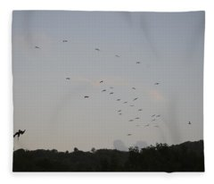 Morning Flock Rise Fleece Blanket