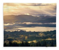 Fleece Blanket featuring the photograph Morning Glory by Whitney Goodey