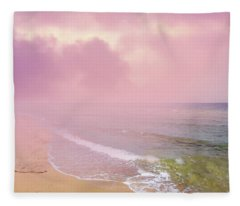Morning Hour By The Seashore In Dreamland Fleece Blanket