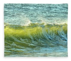 Morning Ocean Break Fleece Blanket