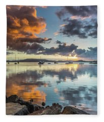 Morning Reflections Waterscape Fleece Blanket