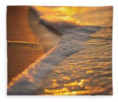 Morning Shoreline Fleece Blanket