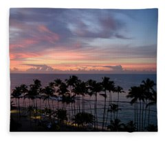 Morning Silouette Fleece Blanket