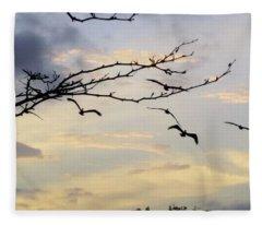 Morning Sky View Fleece Blanket