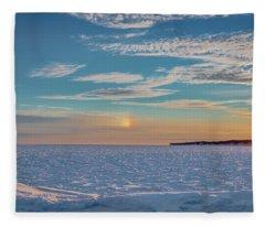 Morning Sundog Fleece Blanket