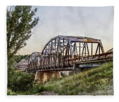 Morrin Bridge Fleece Blanket