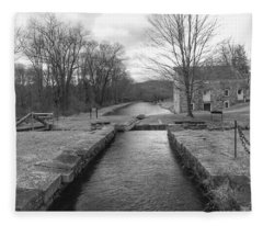 Morris Canal And Lock - Waterloo Village Fleece Blanket