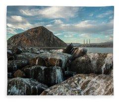Morro Rock Breakwater Fleece Blanket