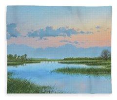 Mosquito Lagoon Fleece Blanket