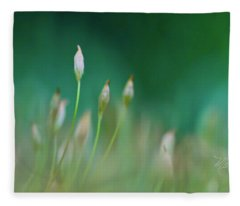 Moss Spores Fleece Blanket