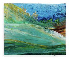 Mother Nature - Landscape View Fleece Blanket