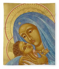 Mother Of God Korsun Fleece Blanket