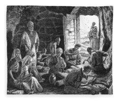 Mother Of Pearl Workers Fleece Blanket