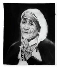 Mother Teresa Fleece Blanket