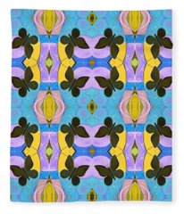 Moths 4 Fleece Blanket