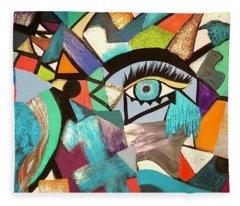 Motley Eye 4 Fleece Blanket