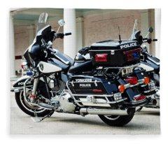 Motorcycle Cruiser Fleece Blanket