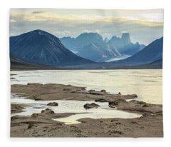 Mount Asgard - Owl River Fleece Blanket
