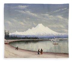 Mount Baker From Near Port Townsend  Fleece Blanket