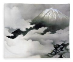 Mount Fuji And Dragon - Ryuodoru -top Quality Image Edition Fleece Blanket