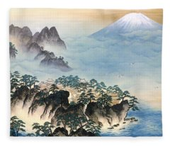 Mount Fuji - Horaisan - Top Quality Image Edition Fleece Blanket