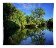 Fleece Blanket featuring the photograph Mount Vernon Iowa by Dan Miller