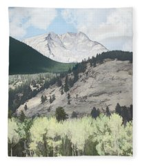 Mount Ypsilon Fleece Blanket