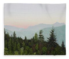 Mountain Dusk Fleece Blanket