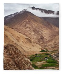 Fleece Blanket featuring the photograph Mountain Farming by Whitney Goodey