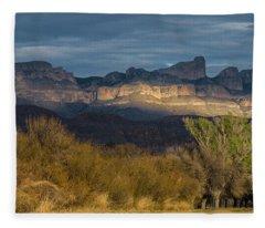 Mountain Illumination Fleece Blanket